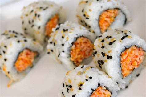 to roll how to make a spicy crab sushi roll recipe my sushi