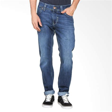 Celana Lois Pria jual lois fashion slim denim celana panjang pria blue cfl 316 harga