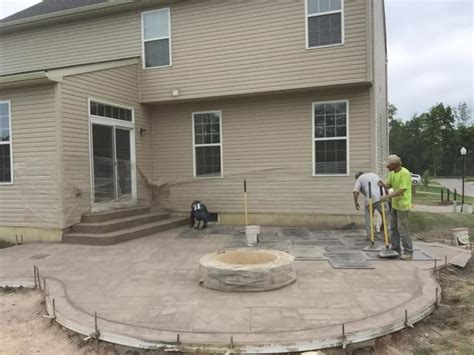 Poured Concrete Patio by Walkers Concrete Llc Sted Concrete Patio Start To