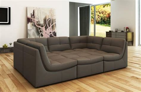 Sectional Couches San Diego by Soflex San Diego Modern Grey Bonded Leather Sectional