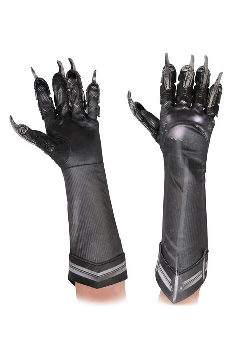 jaguar costume black panther deluxe gloves for kids