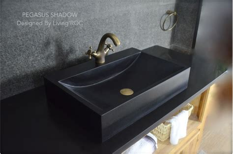 black basins for bathrooms 600mm black basalt stone bathroom basin pegasus black