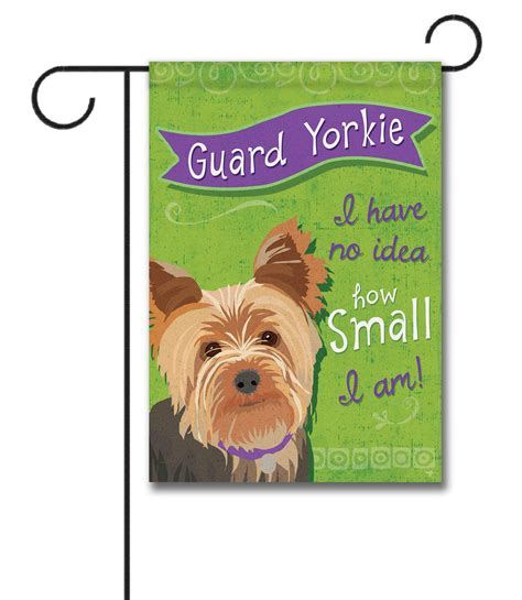 yorkie garden flag guard yorkie garden flag 12 5 x 18 custom printed flags flagology