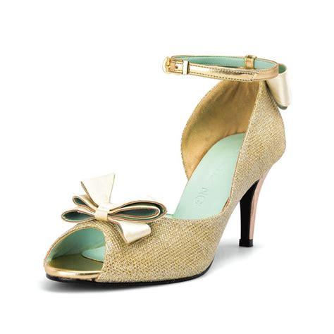 Gold Bridal Heels by Gold Bridal Heels Qu Heel