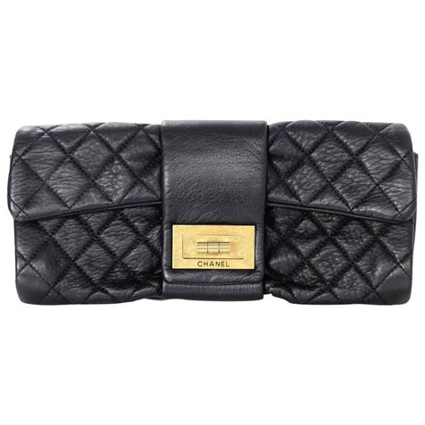 Chanel Quilted Clutch Bag by Chanel Black Quilted Leather 2 55 Reissue Clutch Bag For