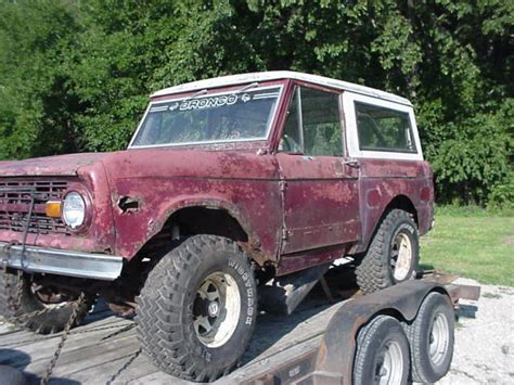 1977 early ford bronco parts rig with power steering