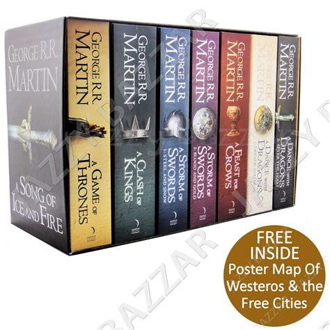 the song of seven books of thrones book set 7 volume box set a song of