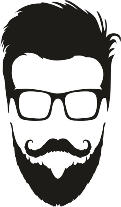 bald man with a beard clip art download free vector