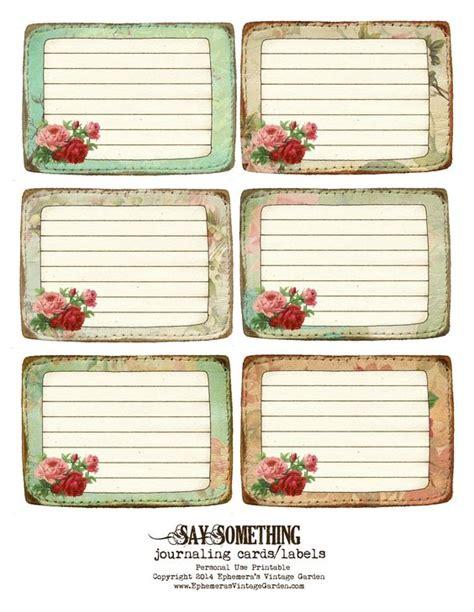 free printable journal labels ephemera s vintage garden free printable stitched