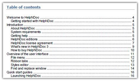 contents page word template add a table of contents to pdf and word documents with