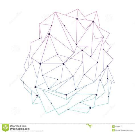 design pattern node black techno texture geometric pattern background stock