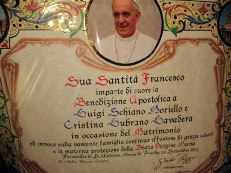 ufficio pergamene della elemosineria apostolica nulla osta benedizione papa foto vle 17 settembre 13