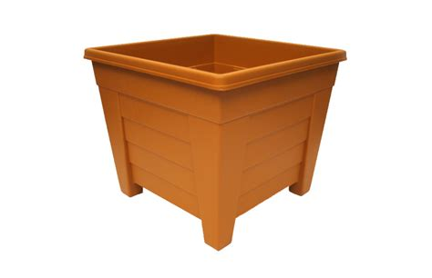 Square Terracotta Planters by Grosvenor Square Planter 38cm Terracotta
