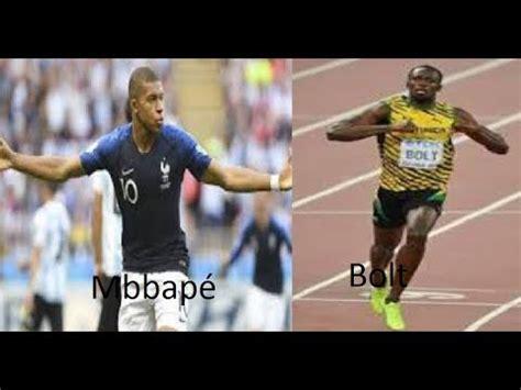 kylian mbappe vs usain bolt kylian mbapp 233 vs bolt extreme speed youtube
