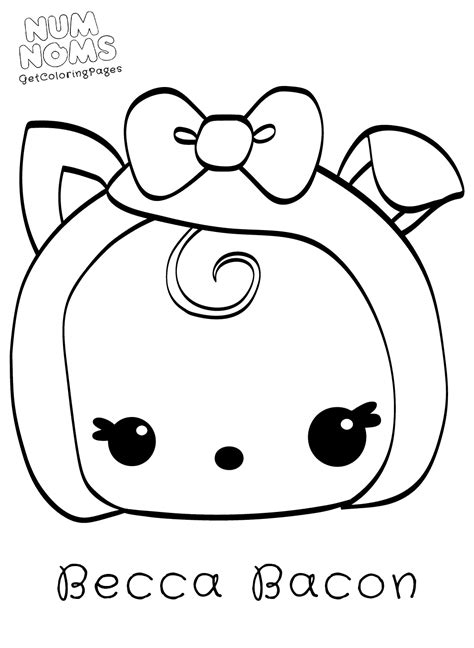 coloring pages num noms cute kawaii food coloring pages sushi