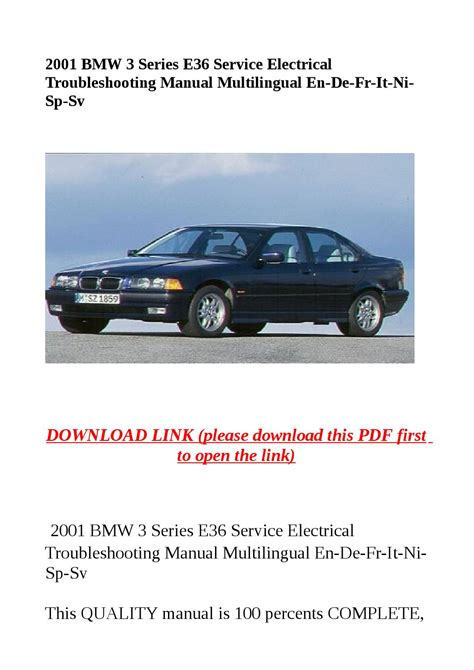 automotive repair manual 2001 bmw 5 series on board diagnostic system 2001 bmw 3 series e36 service electrical troubleshooting manual multilingual en de fr it ni sp