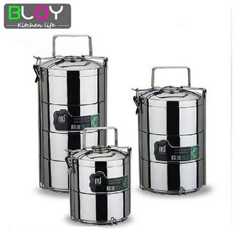 Promo Lunch Box 3 Susun Karakter Stainless Steel 3 layer large 2 8l 1 pcs stainless steel lunch box dinnerware sets food container bento lunchbox