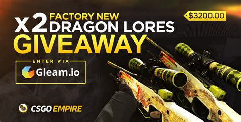 Gleam Io Csgo Giveaways - 2x awp dragon lore factory new giveaway linkis com