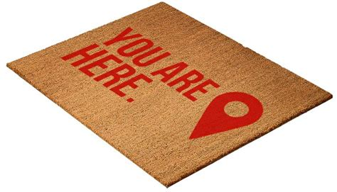 funny welcome mats quot you are here quot funny welcome mat funny floor mats