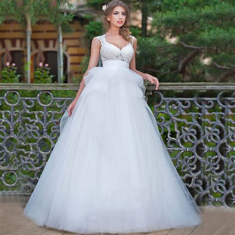 2016 vestidos de casamento white country style wedding dresses gown lace