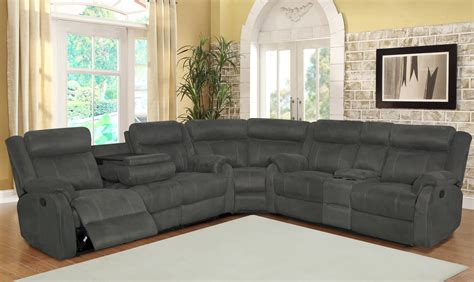 grey reclining sectional sectional sofa sets