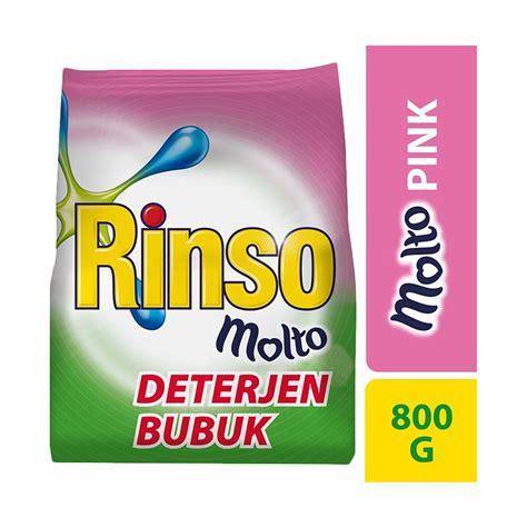 rinso molto deterjen jual rinso molto deterjen bubuk pink 800 g