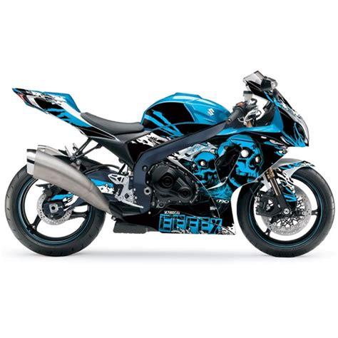 Suzuki Motorcycle Graphics Suzuki Gsxr Skull Pre Cut Wrap Decal Graphics By