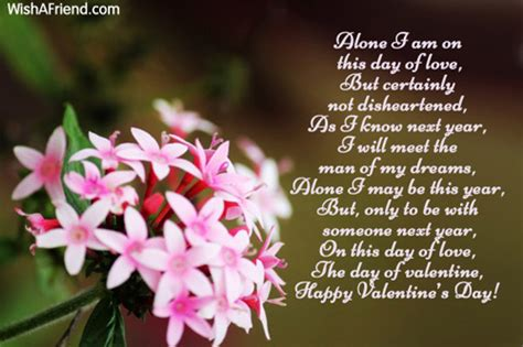 lonely on valentines day quotes s day alone poems