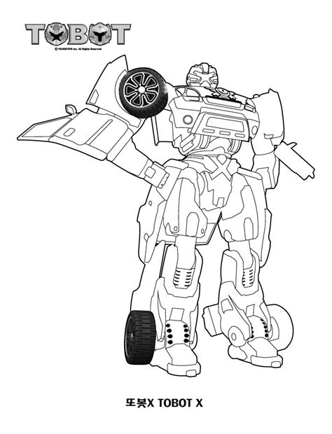 Tobot Y Coloring Pages by 변신자동차 또봇 색칠공부자료 색칠공부프린트