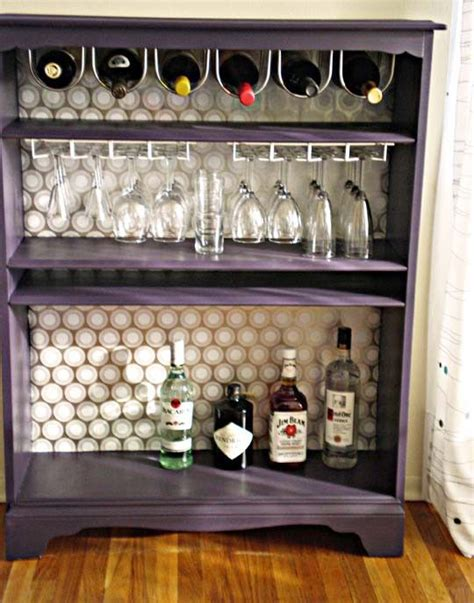 how to turn a bookcase into a bar rand