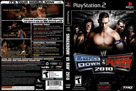 smackdown vs 2010 apk capas para playstation 2