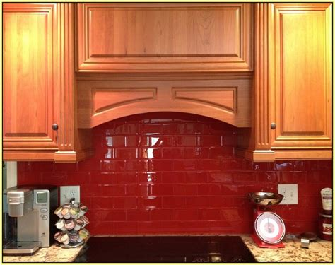 red glass tile kitchen backsplash red glass tile backsplash pictures home design ideas
