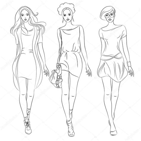 Free Coloring Pages Of Girls Top Model Fashion Model Coloring Pages