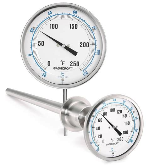 Temperature Ashcroft bimetal thermometers eliminate mercury