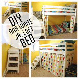 Loft Bed Diy White Diy Jr C Loft Bed With Curtain Diy Projects