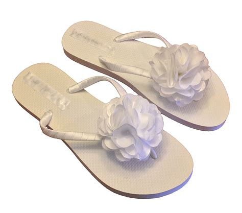 Flower Flip flower flip flops wedding flip flops bridal flip flops