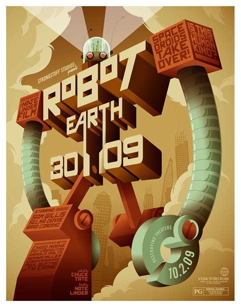 illustrator tutorial movie poster making of robot earth 3009 typographic illustration