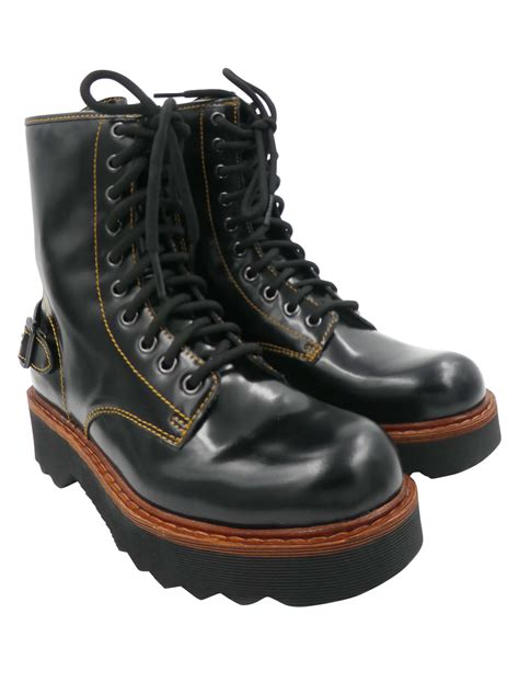 black leather moto boots coach boots coach black moto hiking boots patent leather
