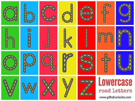 printable alphabet letters free free road letters printable for learning the alphabet