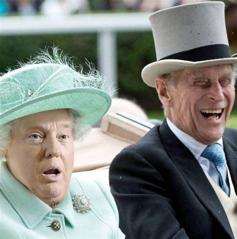 donald trump queen meme la regina elisabetta ha la faccia di donald trump