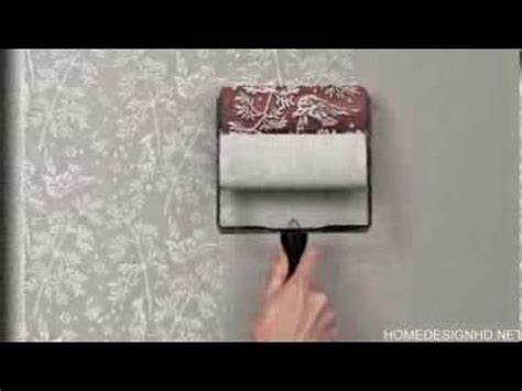 pattern paint roller youtube easily recreating the look of a classic wallpaper