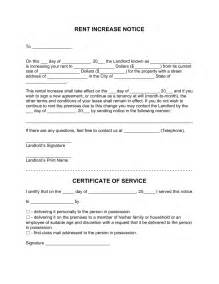 Certification Letter Of No Rental Free Rent Increase Letter Template Notice To Raise