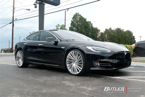 Tesla With Rims Tesla Model S With 22in Lexani M119 Wheels Exclusively