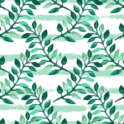 branch name pattern means tree branches with leaves seamless pattern vector 01