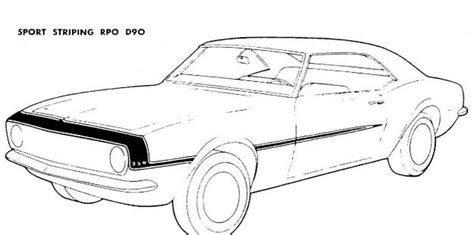 Free Coloring Pages Of 69 Camaro Z28 69 Camaro Coloring Pages