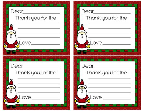 Thank You Letter Santa Template Free Free Thank You Cards Coupon