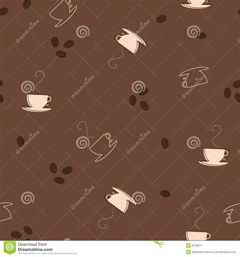 seamless pattern coffee coffee seamless pattern stock image image 8142971