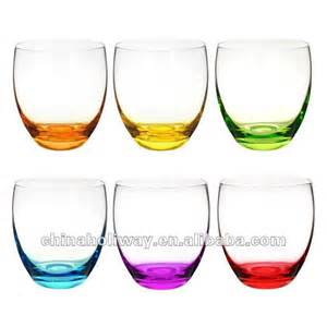 color glasses set of 6 colorama glasses colored tumbler glass
