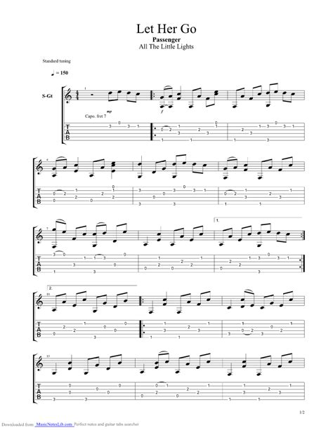 let it go guitar tabs let her go guitar pro tab by passenger musicnoteslib com