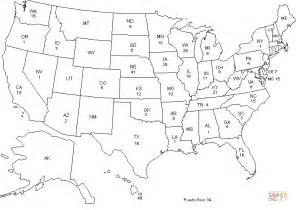 usa map no color coloriage carte des 201 tats d am 233 rique coloriages 224